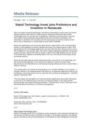 Media Release: - Statoil Innovate