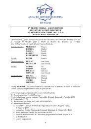 1 1 PROCES VERBAL - SAISON 2009/2010 REUNION DU ... - Footeo