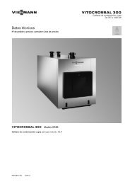 Datos técnicos Vitocrossal 300 CR31.1 MB - Viessmann
