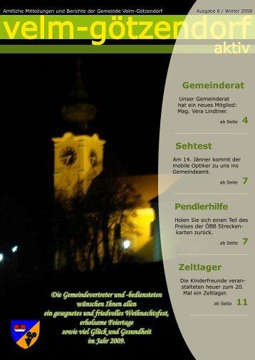 Ausgabe 8 - Velm-Götzendorf