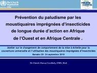 2.Nouvelles techniques de prevention - The Alliance for Malaria ...