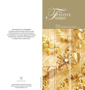 2012 Christmas Brochure - Marriott Hotels