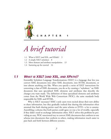 Chapter 1: A brief tutorial - Manning Publications