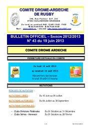 BO N°43 - 19/06/2013