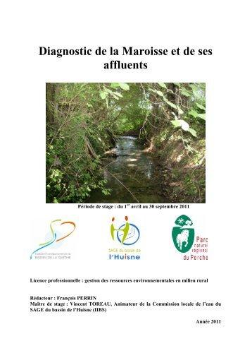 Diagnostic de la Maroisse et de ses affluents - (SAGE) du bassin de ...