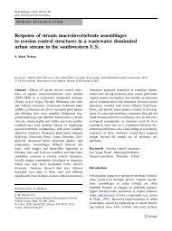 Response of Stream Macroinvertebrate Assemblages to Erosion ...