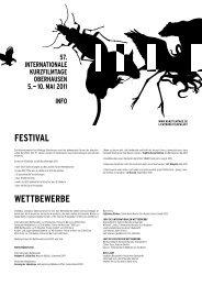 10. Mai 2011 inFO - Internationale Kurzfilmtage Oberhausen