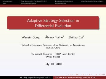 Adaptive Strategy Selection in Differential Evolution - HAL - INRIA