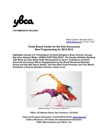 Yerba Buena Center for the Arts Announces New Programming for ...