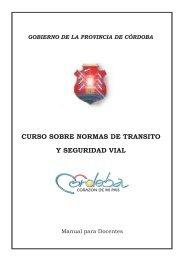 CURSO SOBRE NORMAS DE TRANSITO Y SEGURIDAD VIAL
