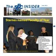 June 2012 Insider - South Piedmont Community College