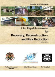 Bhutan Joint Rapid Damage and Loss Assessment Report