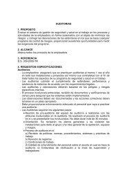 AUDITORIAS 1. PROPOSITO Evaluar el sistema de gestión de ...