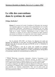 Le rôle des conventions dans le système de santé - EconomiX