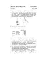 3.¨Ubung zu Theoretischer Physik I ¨Ubungstermin: WS 2006/07 ...