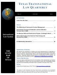 TEXAS TRANSNATIONAL LAW QUARTERLY - Vinson & Elkins LLP