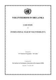 questionnaire on volunteerism in sri lanka - World Volunteer Web