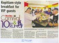 Kopitiam-style breakfastfor. VIP guests - MPSJ