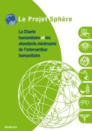 Le Projet Sphère - The Center for International Humanitarian ...