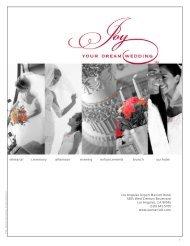 Wedding Menus - Marriott