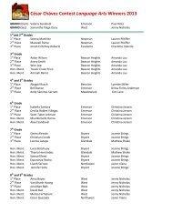 César Chávez Contest Language Arts Winners 2013