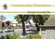 Meeniyan Community Plan 2010 - South Gippsland Shire Council