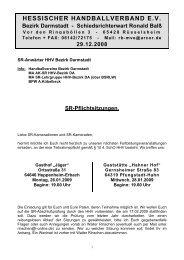 HESSISCHER HANDBALLVERBAND E.V. - Bezirk Darmstadt