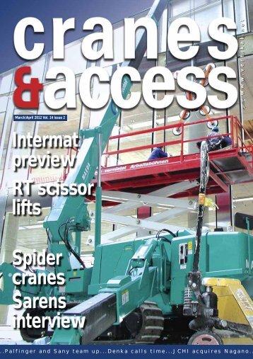 Intermat preview RT scissor lifts Spider cranes Sarens interview