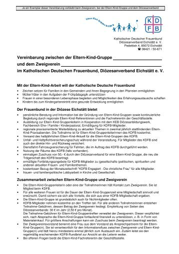 Eltern-Kind-Gruppen-Vereinbarung - KDFB-Diözesanverband ...