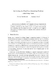 On Solving the Flow Line Scheduling Problem with Setup Costs 1 ...