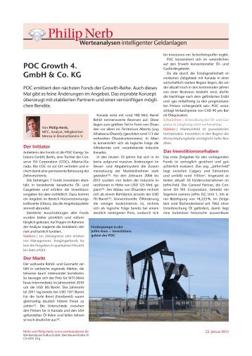 Nerb Analyse zu POC Growth 4 - GeldWelt.de