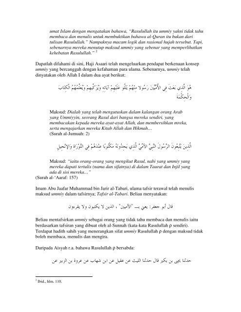 Siri Ketiga: Menjawab Salah faham Asaari Muhammad Terhadap ...