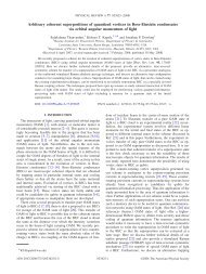 Arbitrary coherent superpositions of quantized vortices in Bose ...