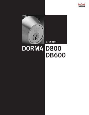 DORMA D800 DB600 - DORMA International