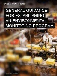 general guidance for establishing an environmental monitoring ...