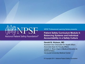 Balancing Systems and Individual Accountability in a Safety Culture