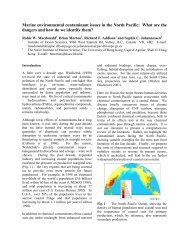 Marine environmental contaminant issues in the North Pacific - PICES