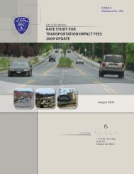rate study for transportation impact fees 2009 update - City of Des ...