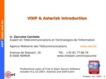 VOIP & Asterisk introduction - Profoss
