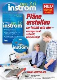 www.instrom.de Pläne erstellen so leicht wie nie - Elektropraktiker