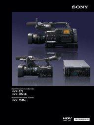 HVR-Z7E HVR-S270E HVR-M35E
