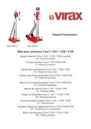 Manuel d'instructions Bâtis pour carotteuses Virax V 150+ / V250 ...