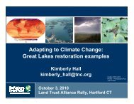 Adapting to Climate Change: Great Lakes restoration examples