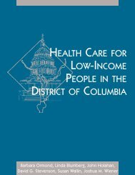Health Care for Low-Income People in the District of ... - Urban Institute