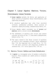 Chapter 7 Linear Systems