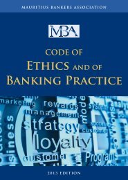 Ethics and of Banking Practice - MCB Group