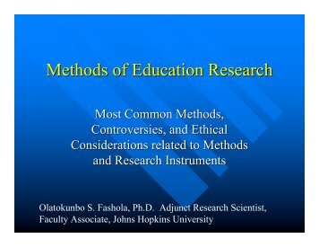Methods of Education Research