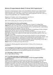 Referat af Grupperådsmøde afholdt 25. februar 2010 i Spejderhytten