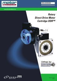 Rotary Direct Drive Motor Cartridge DDR™ - Motor Technology Ltd