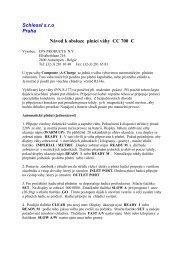 Schiessl s.r.o Praha Návod k obsluze plnící váhy CC 700 C